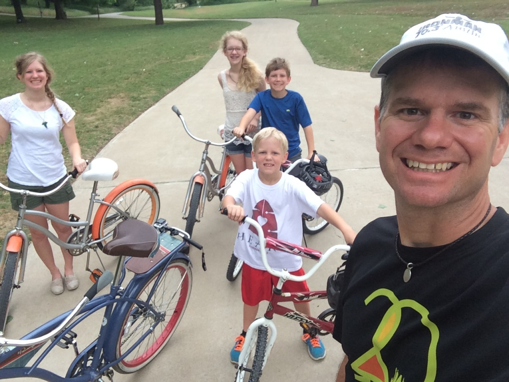 Chad and children biking