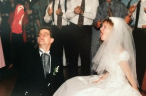 Chad Surprising Kristi at their wedding reception