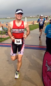In the finish chute at the Pflugerville Tri